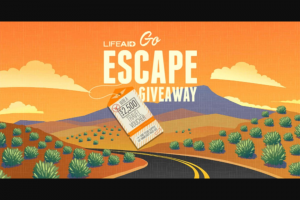 Lifeaid – Go Escape Giveaway Sweepstakes