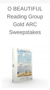 Macmillan – O Beautiful Reading Group Gold Arc – Win a(n) One (1) ARC copy of O BEAUTIFUL by Jung Yun