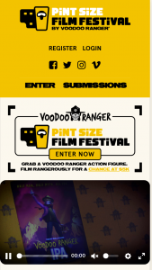 New Belgium Brewing – Voodoo Ranger Pint Size Film Festival Contest – Win five thousand dollars ($5000) and the opportunity to have the grand prize winner's 60 Submission placed during the virtual Adult Swim Festival