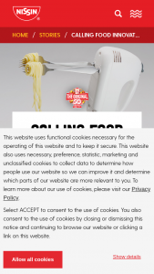 """Nissin Foods – Use Your Noodle Innovation Contest – Twitter/instagram – Win Cup Noodles products and swag (products and swag determined by Sponsor in its sole discretion) (""""Prize"""")."""