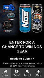 Nos Energy Drink – Gear Instant Win Sweepstakes