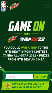 Pepsi-Cola Mtn Dew – Nba All-Star 2022 Weekend Sweepstakes