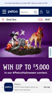 Petco – 2021 Halloween Contest – Instagram/tiktok Sweepstakes