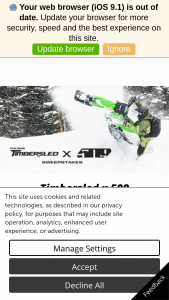 Polaris Industries – 2021 Polaris/timbersled & 509 – Win (Canada ARV $2499) Total approximate retail value of this Sweepstakes is (USA $5498) (Canada $7498).