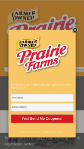 """Prairie Farms Dairy – World Dairy Expo Winners – Win Farms products will be given in the form of FIVE (5) """"$5 Gift Coupons"""" valid for any combination of Prairie Farms and/or North Star brand products"""