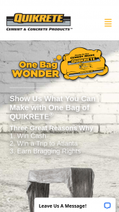 Quikrete – One Bag Wonder Holiday Editions Contest Sweepstakes