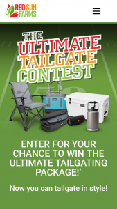 Red Sun Farms – 2021 The Ultimate Tailgate Package Sweepstakes