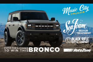 Rtm Studios – Sea Foam New Bronco Giveaway – Win one prize consisting of a 2021 Ford Bronco Big Bend Edition valued at approximately $40000.00 USD