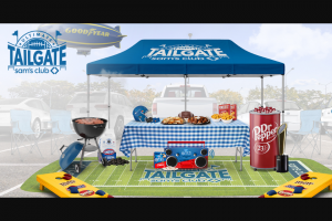 Sam's Club – Virtual Tailgate Experience – Win a custom branded cooler cornhole game