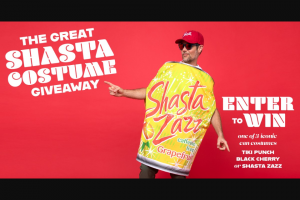 Shasta Beverages – 2021 The Great Shasta Costume Giveaway Sweepstakes