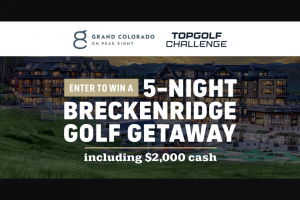 Topgolf – Topgolf Challenge Presented By The Grand Colorado On Peak 8 Sweepstakes