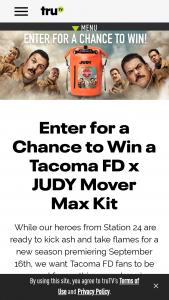 Turner Entertainment Networks Trutv – Tacoma Fd – Win The Mover Max emergency kit