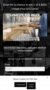 Universal Music Group – Virtual VISA Gift Card Giveaway – Win one (1) five hundred dollar ($500.00) Virtual VISA gift card