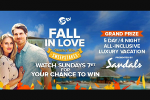 Uptv – Fall In Love Watch & Win Sweepstakes