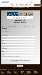 Wellborn Cabinet – Dream Kitchen Makeover Contest Sweepstakes