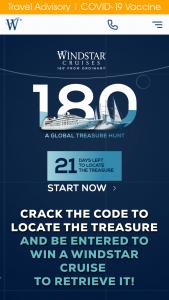 Windstar Cruises – 180° Global Treasure Hunt Sweepstakes