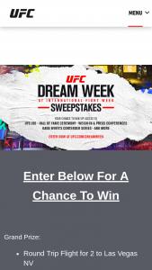 Zuffa – Ufc Dream Week At International Fight Week Sweepstakes