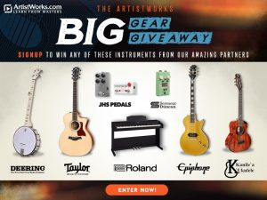 Artist Works – Win 1 of 8 prize packs of instruments and gear