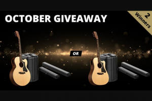 American Musical Supply – Gibson Generation & Bose L1 Giveaway – Win one of Gibson's NEW Generation Series Acoustic Guitars paired with a Bose L1 Pro 8 Line Array PA Total Value of Prizes $5996.00 Value