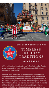 Balsam Hill – Timeless Holiday Traditions Sweepstakes