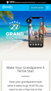 Beaches – Grandescapes – Win 6days/5nights Luxury Included accommodations for up to two adults and two children (one of the individuals has to be the Participant) in a Luxury-level room at any one of the Beaches Resorts