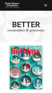 Better Homes & Gardens – Home For The Holidays Sweepstakes
