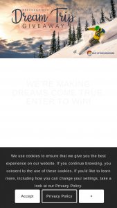 Breckenridge Grand Vacations – Dream Trip Giveaway 2021 – Win seven nights of lodging in a one-bedroom Breckenridge residence at the Grand Colorado on Peak 8 in Breckenridge