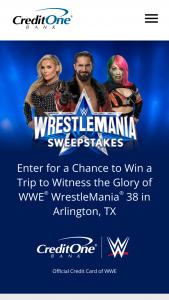 Credit One Bank – Wwe Wrestlemania 38 Sweepstakes