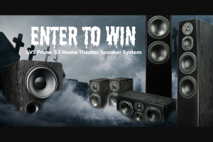 Crutchfield – Svs Great Gear Giveaway Fall 2021 Sweepstakes