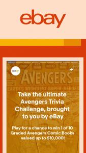 Ebay – Gamer Network Limited Graded Avengers Comic Books – Win Graded Avengers Comic Book ARV $500 to $10000.