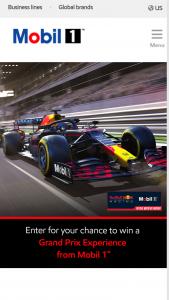 Exxonmobil Mobil 1 – 2022 Grand Prix Experience – Win a Grand Prix Experience Package ) to their choice of Miami