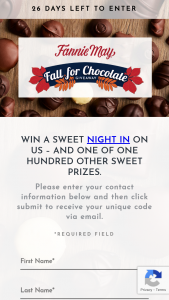 Fannie May – Fall For Chocolate Giveaway Sweepstakes