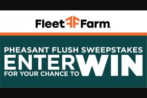 Fleet Farm – Pheasant Flush Sweepstakes