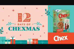 "General Mills – John & Chrissy's 12 Days Of Chexmas – Win one (1) John Legend ""A Legendary Christmas"" CD"