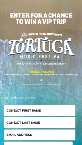 Gildan – Comfort Colors Florida Festival – Win consisting of a five day/four night trip for two to the Tortuga music festival to be held in Ft Lauderdale FL and scheduled to take place from November 12 through November 14 2021.