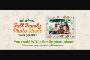 Harvest Hill Beverage – Juicy Juice Fall Family Photo Shoot Sweepstakes