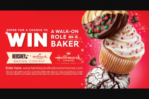 Hershey And Hallmark Channel – Bake Your Way To The Big Screen Contest Sweepstakes