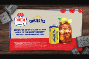 Iheartmedia – Iheartradio Country Festival And Twisted Tea – Win a trip for two (2) to Austin