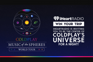 Iheartradio – Center Of Coldplay's Universe Tour Text – Win a personal call from the band