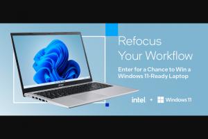 Intel – Windows 11-ready Laptop Sweepstakes