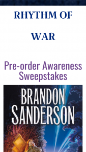 Macmillan – Rhythm Of War Tpb Preorder Awareness – Win a(n) one (1) Stormlight Archive satchel one (1) 1 amethyst Stormlight Archive D20.