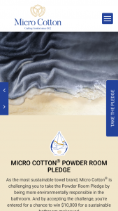 Micro Cotton – Powder Room Pledge – Win $500 towards a sustainable bathroom makeover