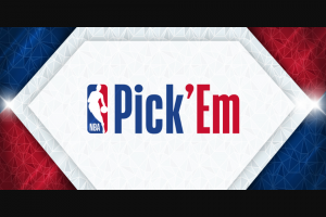 Nba – Pick' Em  Contest – Win Period $10000 awarded in the form of a check