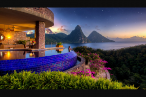 Omaze – Dream Getaway At Jade Mountain Resort In St Lucia – Win a five (5) day