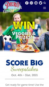 Pero Family Farms – Score Big – Win also include one (1) Pero Family Farms lawn chair one (1) Pero Family Farms blanket one (1) Rtic Soft Cooler and one (1) Pero Family Farms Tervis tumbler (total max