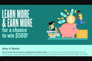 Psecu – Financial Fitness – Win receive One (1) $500.00 cash prize