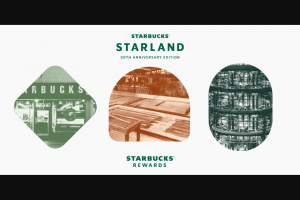 Starbucks – Starbucks Rewards Starland 50th Anniversary Edition – Win raffle follow an annual IRS Form 1099 for each tax year where the total value of the