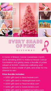 Treetopia – Every Shade Of Pink – Win $350 gift card to Beachwavercom