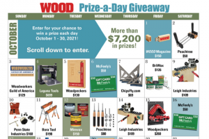 Wood Magazine – Prize-A-Day Giveaway Sweepstakes